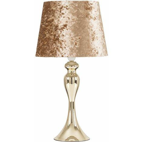 22169 Faulkner Gold Spindle Touch TL+24792 NE Small Aspen Velvet Dusky Gold TPD Shade+20678 7W Dimmable BC - Gold