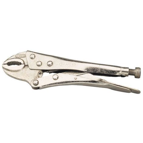 """Pliers 10 New Curved Mole Jaws Grips Serrated Nickel 10/"""" Locking Grip Plier"""