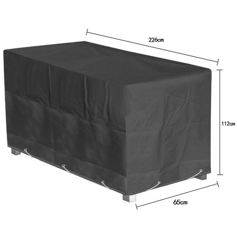 226 112 65cm Exterieur Housse De Protection Noir Couverture Impermeable Bache Pour Salon De Jardin Je35161kandeng