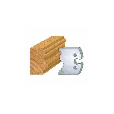 228 : jeu de 2 fers 50 mm moulure renaissance pour porte outils 50 mm