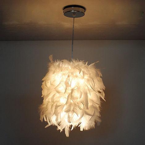 22cm Plume Suspension Luminaire Moderne Lustre Lampe Suspension