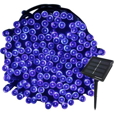 22M Solar Garland 200 LED 8 Light Sets Ideal for Party, Wedding, Birthday and Outdoor Garden (Blue)