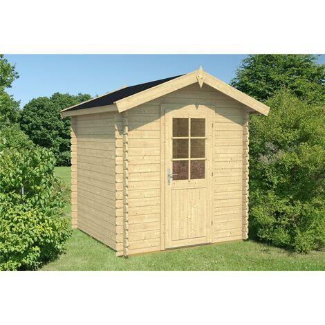 2.2m x 2.2m Budget Apex Log Cabin (219) - Single Glazing (28mm Wall Thickness)