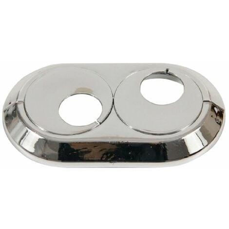 22mm Double PVC Chrome Radiateur Plastique Conduite D'eau Couvertur Collier