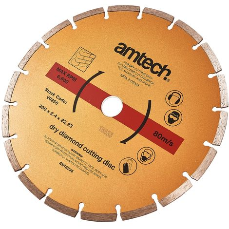 230 x 2.4mm Segmented Diamond Cutting Disc