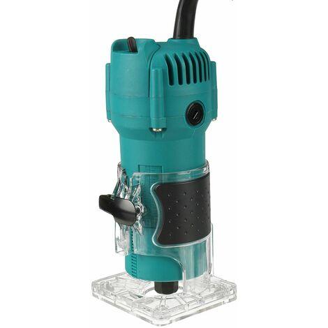 2300W 30000rpm bois tondeuse à main électrique travail du bois gravure (bleu, prise UE - 220V)