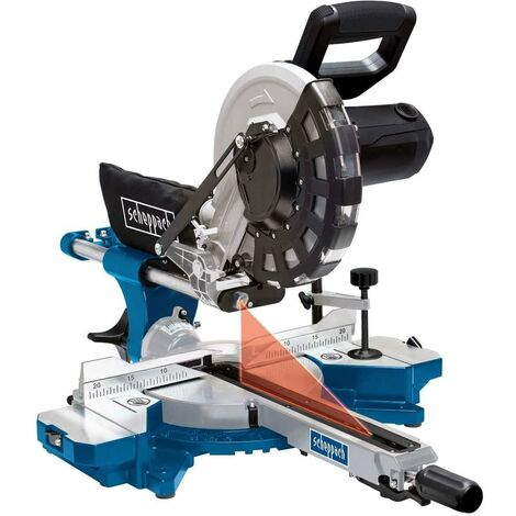 "230V 10"" SLIDING MITRE SAW WOOD 2000W Ø 255mm SCHEPPACH HM254"