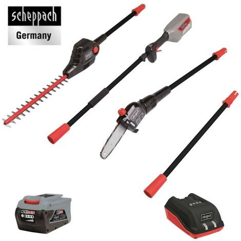 230V 2IN1 CORDLESS HEDGE TRIMMER POLE SAW 2,5AH BATTERY SCHEPPACH BPT700-40Li