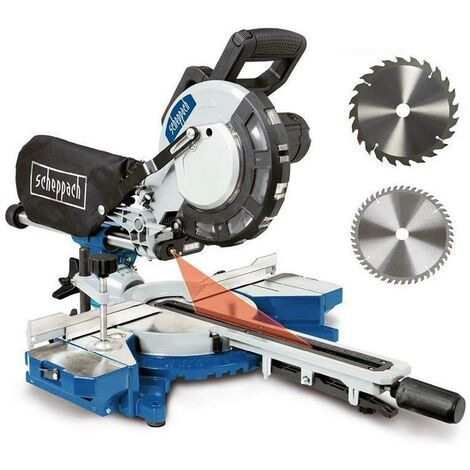 "230V 8"" SLIDING MITRE SAW WOOD 2000W Ø 216MM SCHEPPACH HM216"