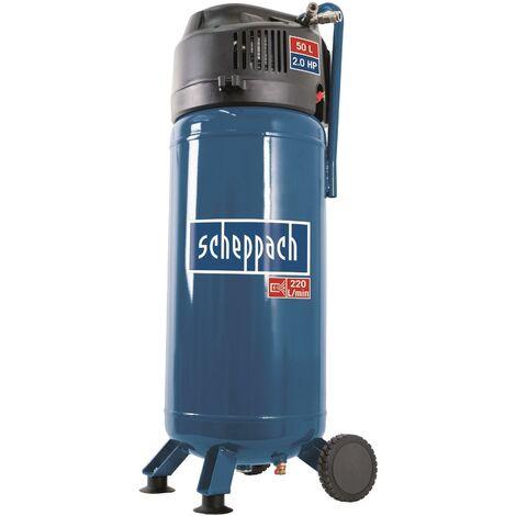 230V AIR COMPRESSOR OIL FREE 50 L VERTICAL TANK 10 BAR PORTABLE SCHEPPACH HC51V