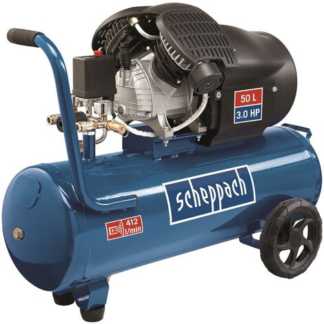 230V AIR COMPRESSOR OIL-LUBRICATED 50LT DOUBLE CYLINDER SCHEPPACH HC53DC
