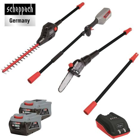 230V CORDLESS HEDGE TRIMMER POLE SAW + 2 BATTERIES 2,5AH SCHEPPACH BPT700-40Li