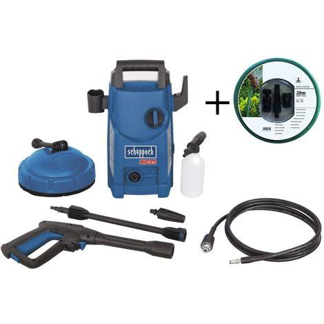 230V ELECTRIC HIGH PRESSURE CLEANER 105 BAR 1400W SCHEPPACH HCE1500 + 20MT HOSE
