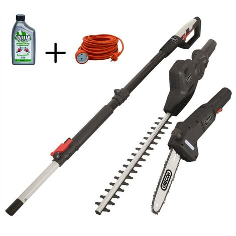 230V ELECTRIC POLE SAW HEDGE TRIMMER SCHEPPACH TPX710 + EXTENSION 20MT + OIL 1LT
