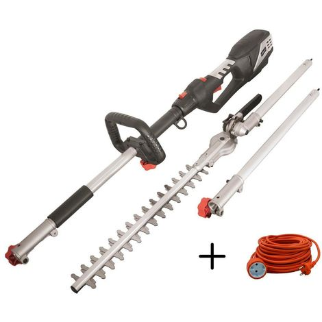 230V TELESCOPIC POLE HEDGE TRIMMER SCHEPPACH TPH900 + EXTENSION CABLE 20 MT