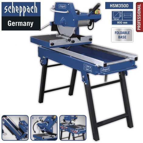 230V WET TILE AND BRICK SAW 80 X 11 CM CUT 350MM BLADE 2800RPM SCHEPPACH HSM3500