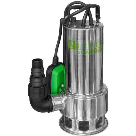 230V SUBMERSIBLE ELECTRIC DIRTY WATER PUMP INOX 1100W ZIPPER ZI-DWP1100N