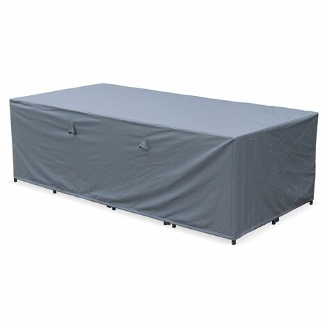 230x112cm dark grey dust cover - Rectangular, PA-coated polyester dust cover for the Vasto 12 and Cubo 12 garden tables