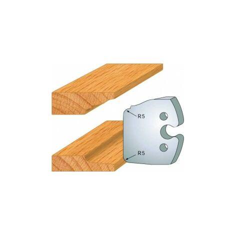 231 : jeu de 2 fers 50 mm plate bande double pour porte outils 50 mm