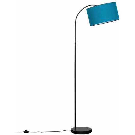 23115 Curva Trend Black Floor Lamp+1x24971 LRG Reni F.Blue