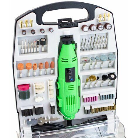 234 teiliges Mini Schleifer Set Multifunktionswerkzeug Mehrzweckschleifmaschine Handschleifer Multischleifer Multitool Drill Werkzeug 135W und Drehzahlregelung