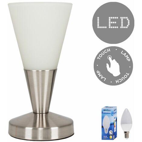 23993 White Glass Cone Touch TL + 1x20675 DIM 5W SES
