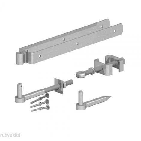 """2x 12/"""" HEAVY DUTY HOOK TO BOLT FIELD GATE PIN For 4-10/"""" Posts Galvanised Iron"""