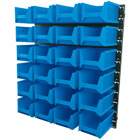 24 Bin Wall Storage Unit (Large Bins)