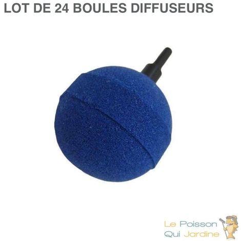 24 diffuseurs d'air ( boule ) sphèriques pour aérer les bassins de jardin : 5 cm