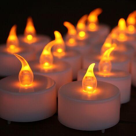 24 Efecto de llama de velas amarillas