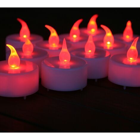 24 Efecto llama de velas rojas