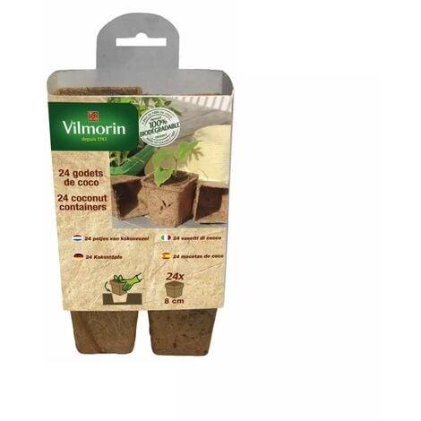 24 godets coco carrés 8 cm Vilmorin