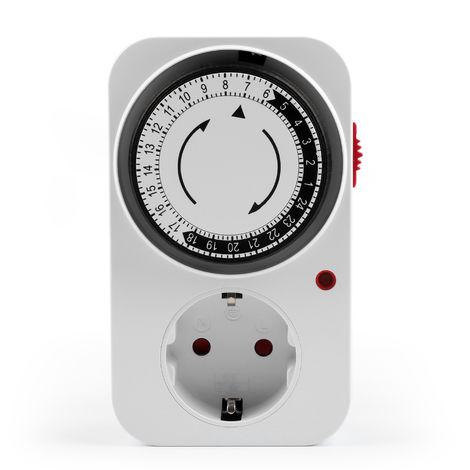 24 horas temporizador mecanico programable, interruptor temporizador