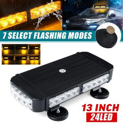 24-LED Barre Lumineuse Stroboscopique d'avertissement Voiture