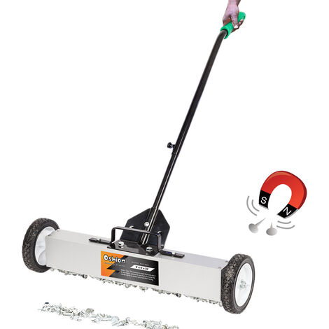 """main image of """"24"""" Magnetic Sweeper with Switchable Release, Magnetic Pick Up Tool with Wheels Sweeps Nails & Screws Quickly"""""""