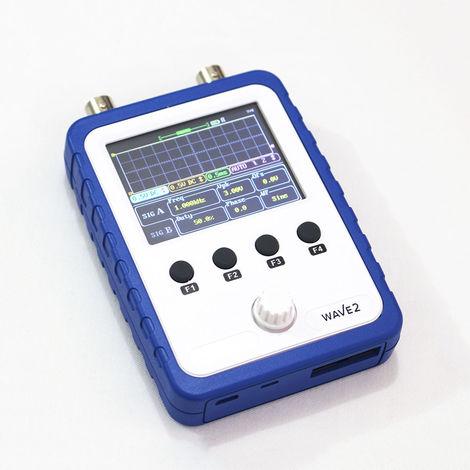 "2.4"" Osciloscopio digital, pantalla tactil, doble canal, con la sonda"