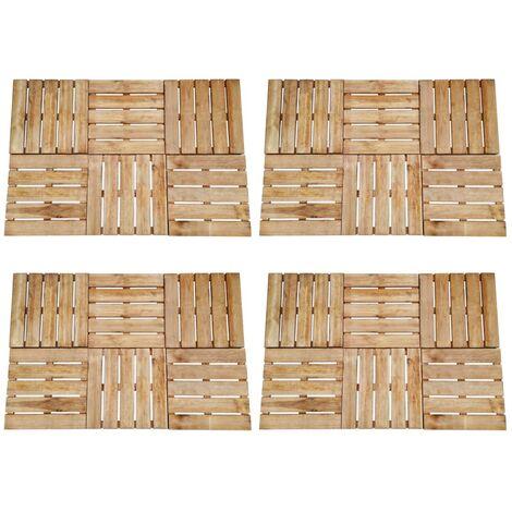 24 pcs Decking Tiles 50x50 cm Wood Brown