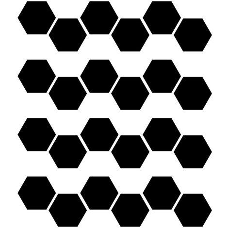 24 pi¨¨ces de miroir acrylique hexagone stickers muraux bricolage d¨¦coration de la maison miroir stickers muraux