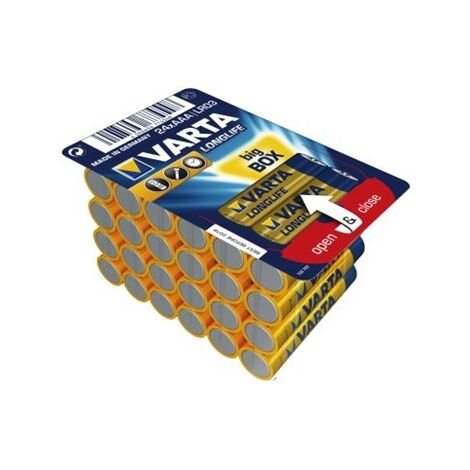 24 piles LR03 / LR3 AAA VARTA LONG LIFE