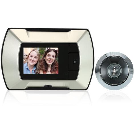 "2.4"" TFT LCD Visual Monitor Door Peephole Wireless Viewer Camera Digital Electric Peephole Doorbell Monitor,model:Beige"