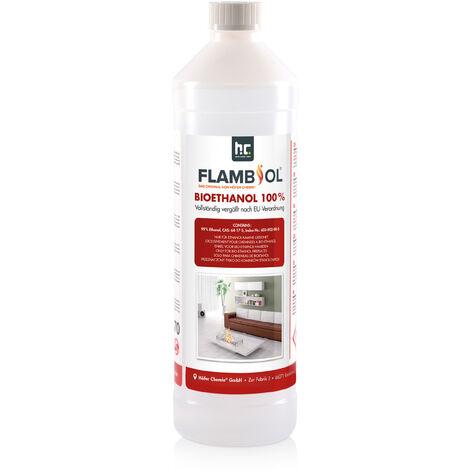 24 x 1 Litre Bioéthanol à 100% dénaturé en bouteilles de 1 l