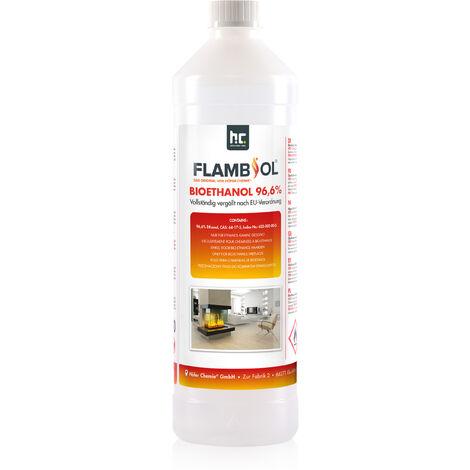 24 x 1 Litre Bioéthanol à 96,6% en bouteilles de 1 l
