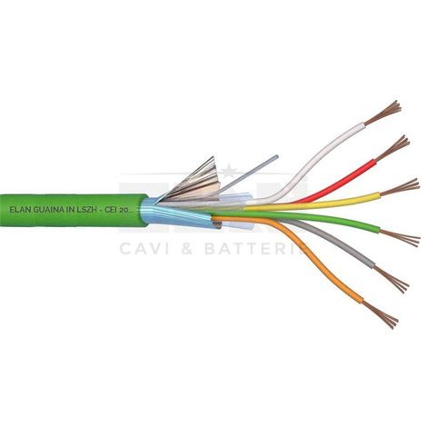 240061 alarm cable shielded 6X0,22 LSZH GREEN
