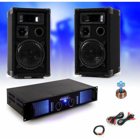 2400W PA Musikanlage Boxen und Verstärker DJ-28