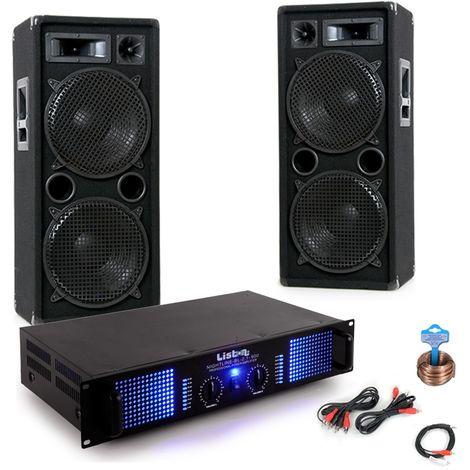 2400W Starke Musikanlage für Ihren Partykeller DJ-Battle 2