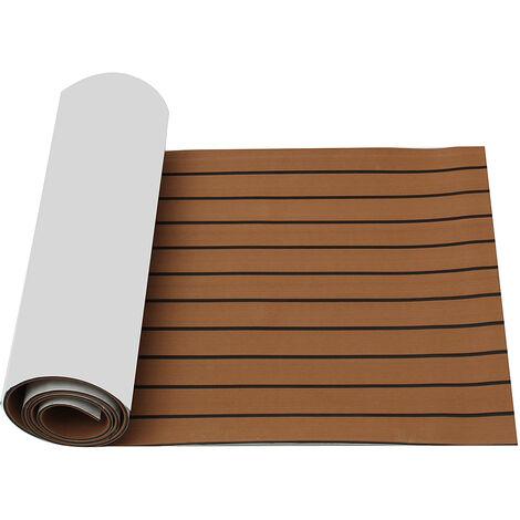 2400x600x6mm Brown Boat Teak Decking Flooring Sheet Pad Carpet Mat