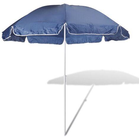 240cm Parasol de plage bleu