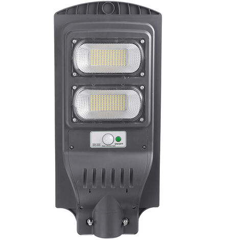 240W 234 LED Solar Street Light Wall Lamp IP65 Remote Motion Sensor Outdoor grey 600W light without pole