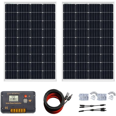 240w panneau solaire 12V kit 20A contrôleur de charge pour voiture à domicile PV hors kit de réseau