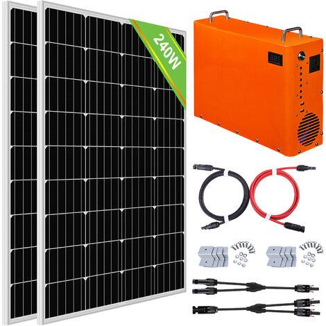 240W Sistema completo de paneles solares 1 kW Generador de maleta portátil 1 kW · h Batería LiFePO4